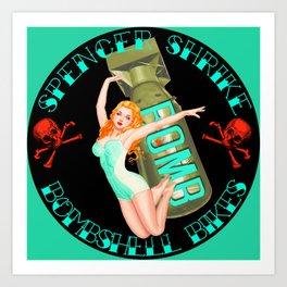 Spencer Shrike Bombshell Bikes - 1 Art Print