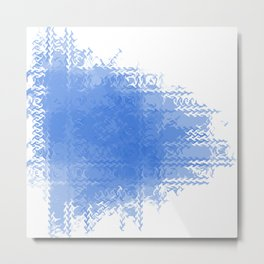 Blue fire Metal Print