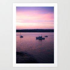 Dusk in the Harbour. Art Print