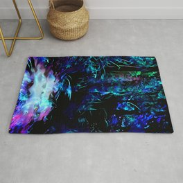 Blacklight Dreams of the Forest Rug