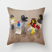 shopping Throw Pillows featuring Shopping by Pedro Nogueira