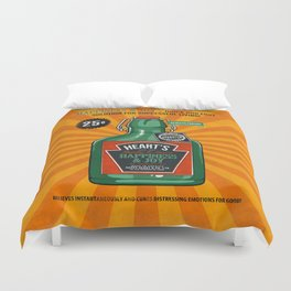 Happiness and Joy Duvet Cover