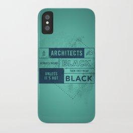 Architects wear black iPhone Case
