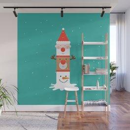 Holiday Totem Wall Mural