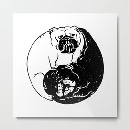 The Tao of English Bulldog Metal Print