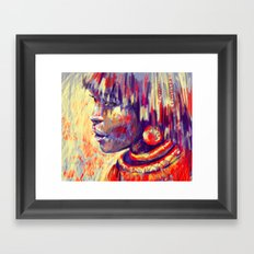 African portrait Framed Art Print