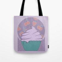 cupcake Tote Bags featuring Cupcake by Perdita