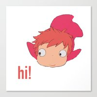 ponyo Canvas Prints featuring Ponyo by Etiquette