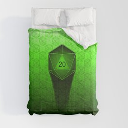 D20 All I Do Is Crit!  Green Ombre Comforters