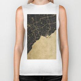 Toronto Gold and Black Street Map Biker Tank