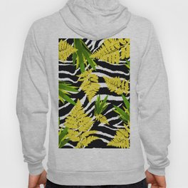 ZEBRA PALMS AND FERNS YELLOW AND GREEN Hoody
