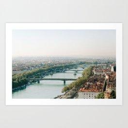 Sunrise over Lyon Art Print