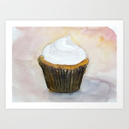 Vanilla Cupcake Art Print
