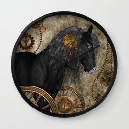 Beautiful wild horse Wall Clock