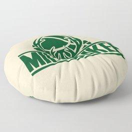 Milwaukee basketball custom cream logo Floor Pillow