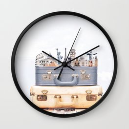 Travel Luggage Wall Clock