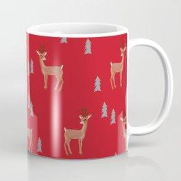 Rudolph christmas santa's reindeer forest winter deer Coffee Mug