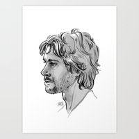 will graham Art Prints featuring Will Graham by otterymary
