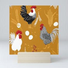 Rooster Roundup Mini Art Print
