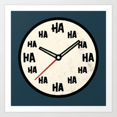 The Laughing Clock Art Print