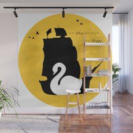 CAPTAIN SWAN (Yellow) Wall Mural