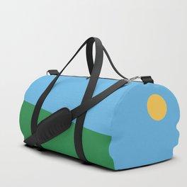 Minimal countryside landscape Duffle Bag