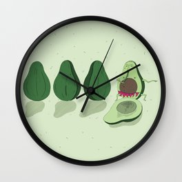 dancing avocado Wall Clock
