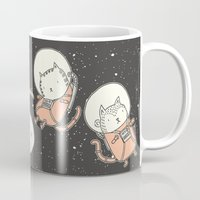 book Mugs featuring Cat-Stronauts by Drew Brockington