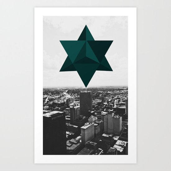Star Tetrahedron Descending Art Print