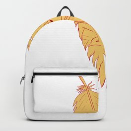 Sea Eagle Head Inside Feather Drawing Backpack