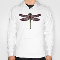 dragonfly Hoodies featuring dragonfly by Sharon Turner