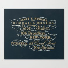 Kimball & Rogers Boot Blackers Canvas Print