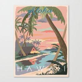 Aloha Hawaii Travel Poster Canvas Print