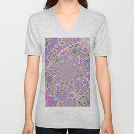 Pretty Lavender Garden Unisex V-Neck