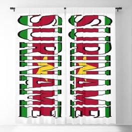 Suriname Font With Surinamese Flag Blackout Curtain