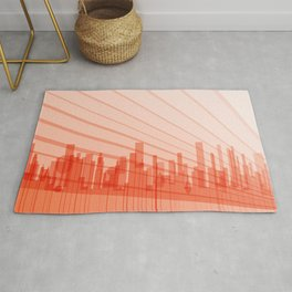City Abstract Background Rug