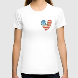 Torn Heart Flag Held Together With a Safety Pin T-shirt