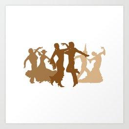 Flamenco Dancers Illustration  Art Print