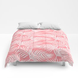 Palm Leaves_Pink Comforters