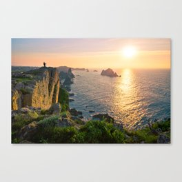 Shooting at sunset Canvas Print