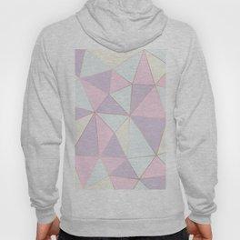 Pastel colors modern geometric triangles pattern Hoody
