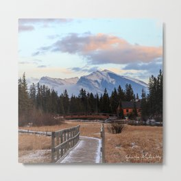 Sunset in the Canadian Rockies Metal Print