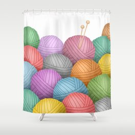 So Much Yarn Shower Curtain