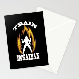 Train insaiyan Stationery Cards