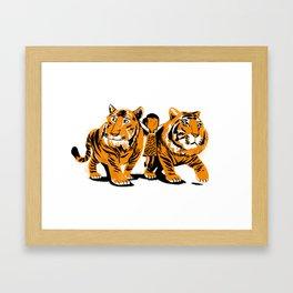 Tiger Girl Framed Art Print