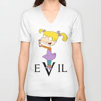 evil V-neck T-shirts featuring eVil by #MadeByTylord