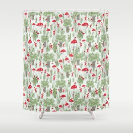 Gnomes Playing Hide and Seek Shower Curtain
