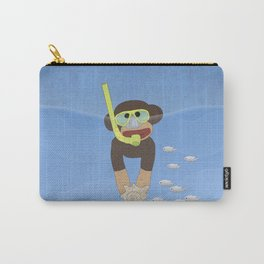 Sock Monkey Snorkeling Carry-All Pouch
