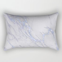 Marble Love Sapphire Metallic Rectangular Pillow