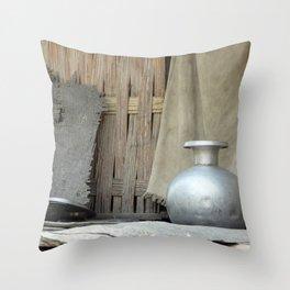 Indian Siver Throw Pillow